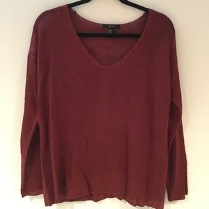 Forever 21 Red Knit Sweater